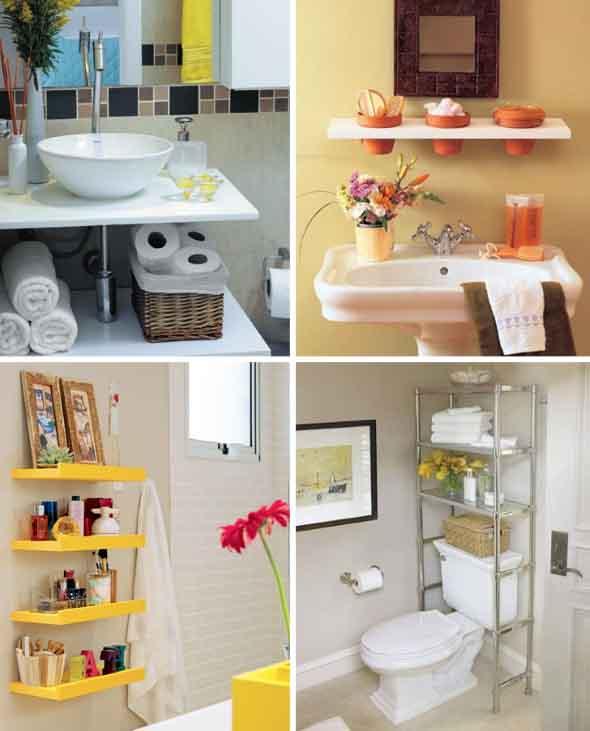 Soluções práticas para banheiros pequenos 004