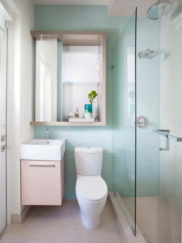 Soluções práticas para banheiros pequenos 013