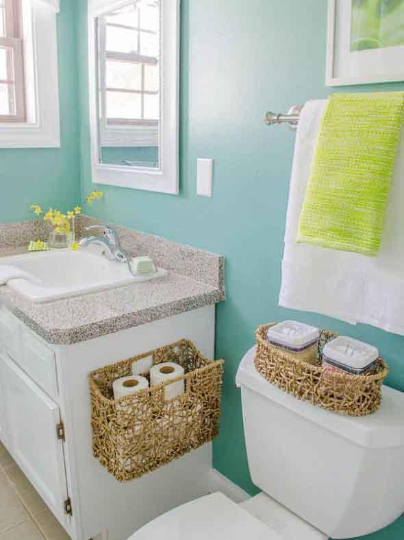 Soluções práticas para banheiros pequenos 018