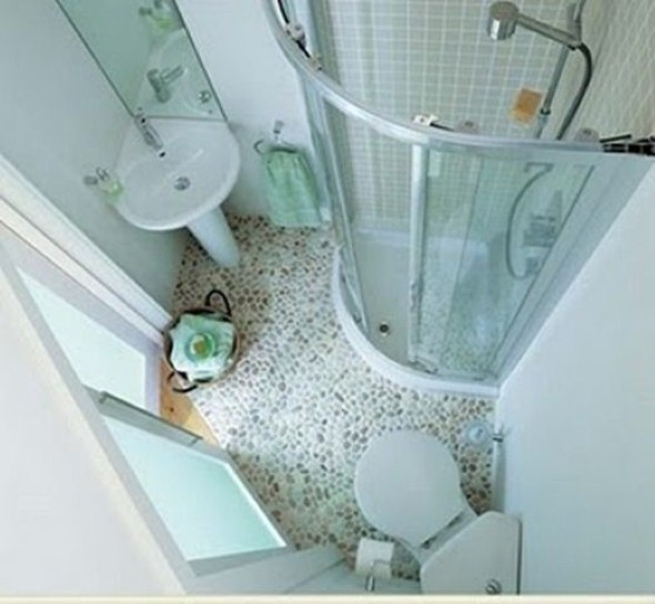 Soluções práticas para banheiros pequenos 019