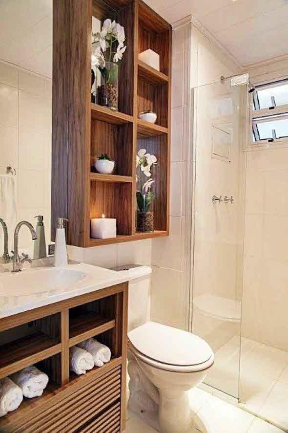Soluções práticas para banheiros pequenos 021