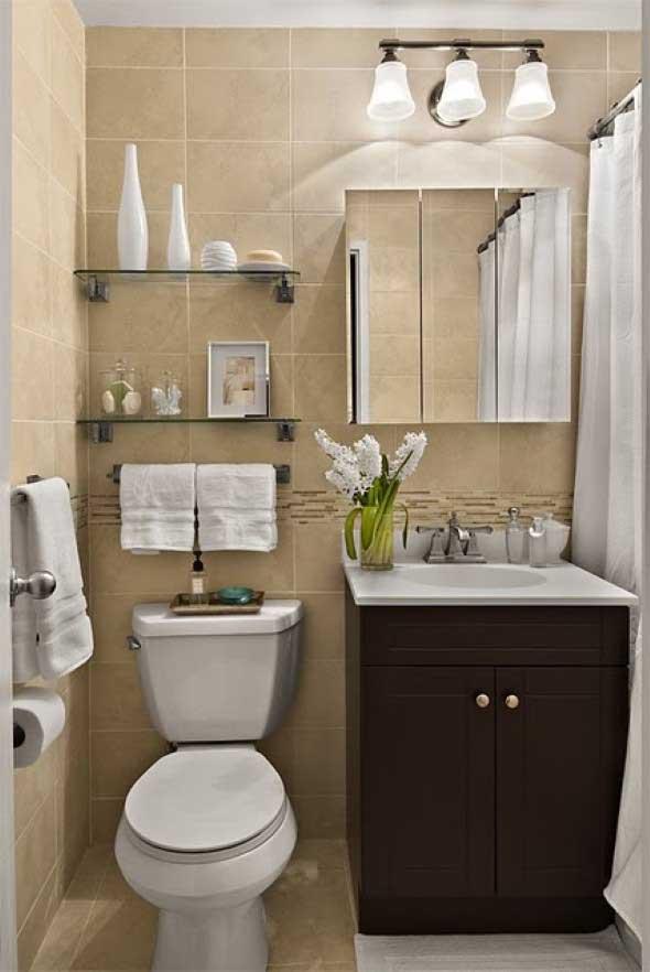 Soluções práticas para banheiros pequenos 022