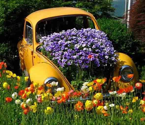 Canteiro de flores criativo para varanda e jardim 001