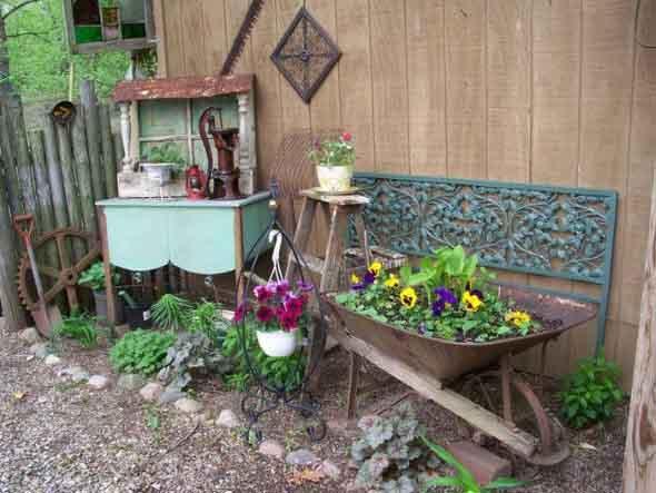 Canteiro de flores criativo para varanda e jardim 004