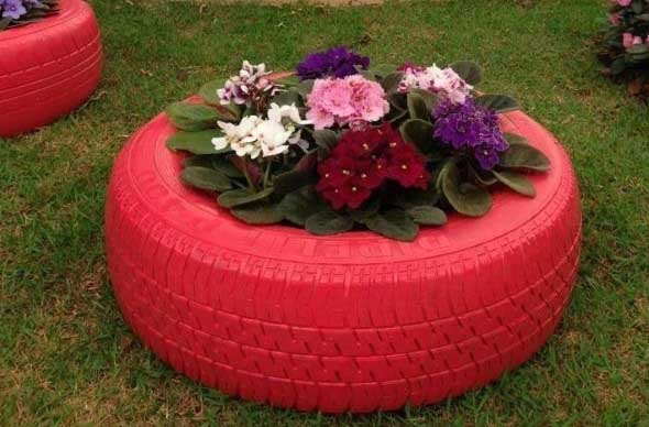 Canteiro de flores criativo para varanda e jardim 006