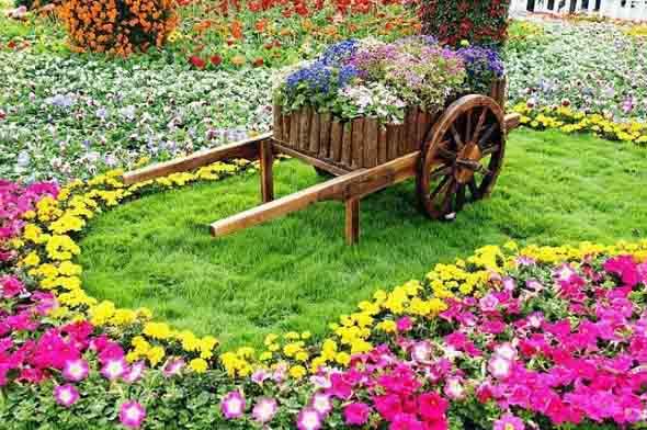 Canteiro de flores criativo para varanda e jardim 007