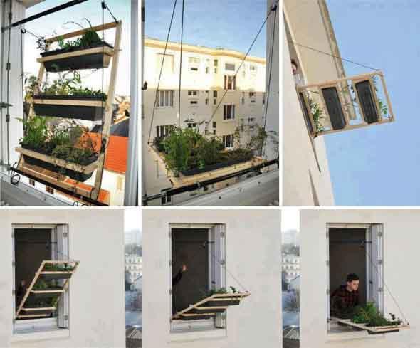 Canteiro de flores criativo para varanda e jardim 011