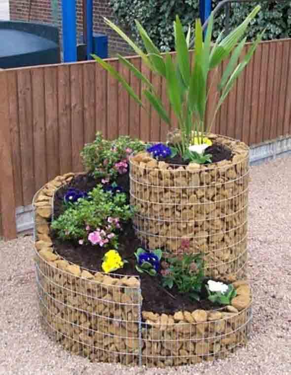 Canteiro de flores criativo para varanda e jardim 015
