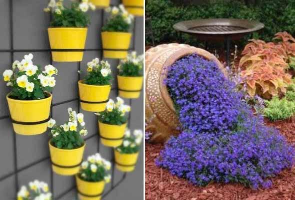 Canteiro de flores criativo para varanda e jardim 016
