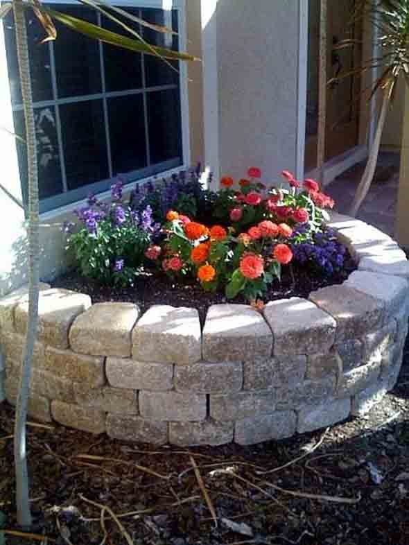Canteiro de flores criativo para varanda e jardim 023