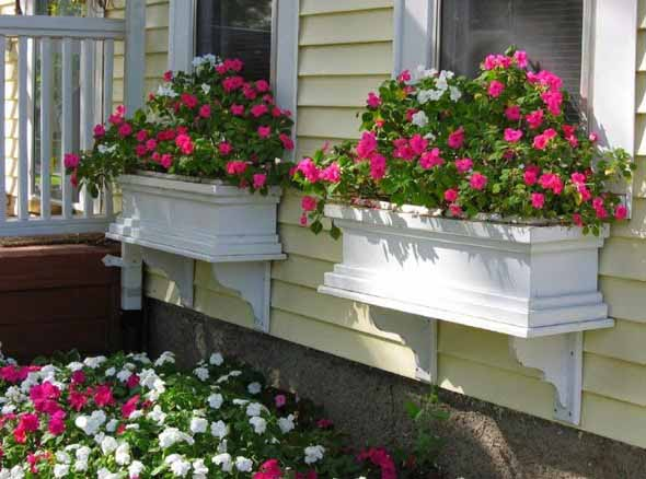 Canteiro de flores criativo para varanda e jardim 024