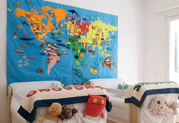 Mapa-múndi na decoração 008