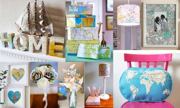 Mapa-múndi na decoração 012