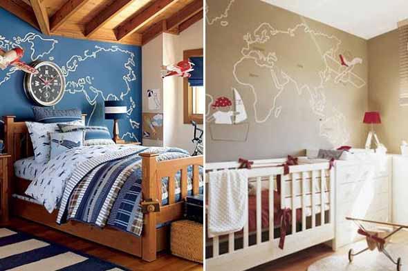 Mapa-múndi na decoração 013