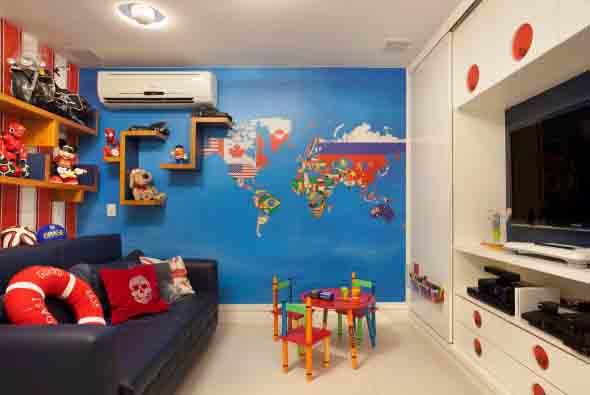 Mapa-múndi na decoração 016