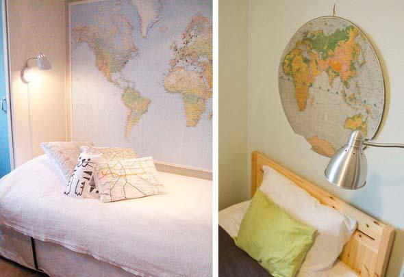 Mapa-múndi na decoração 022