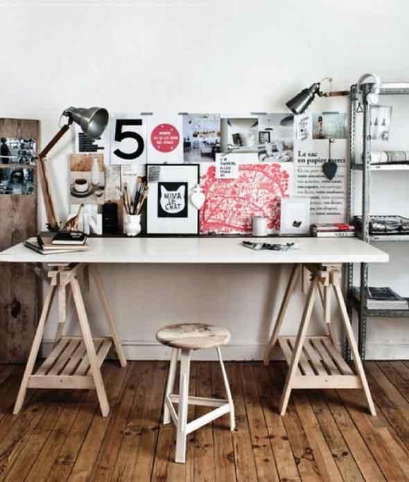 Mesa com cavaletes 015