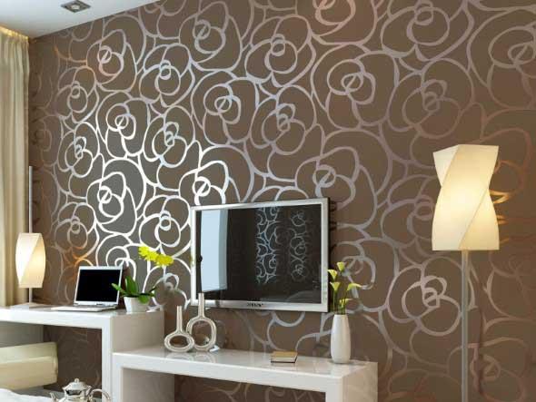 Papel de parede metalizado na decoração 002