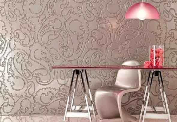 Papel de parede metalizado na decoração 007