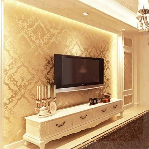 Papel de parede metalizado na decoração 020