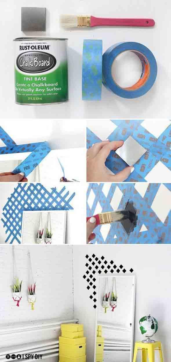 Pintura criativa com uso de fita adesiva 007