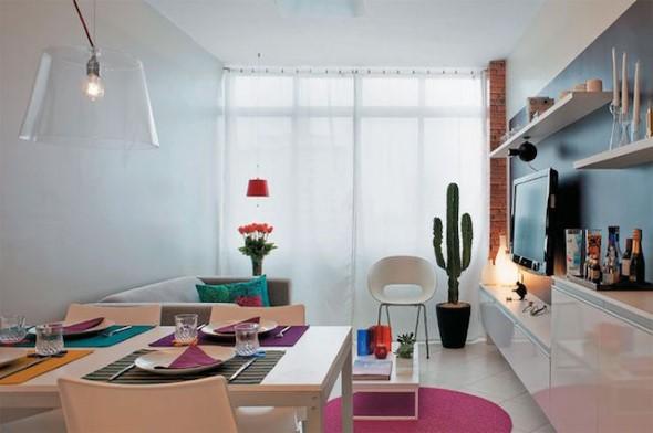 Apartamento pequeno com ambientes integrados 006