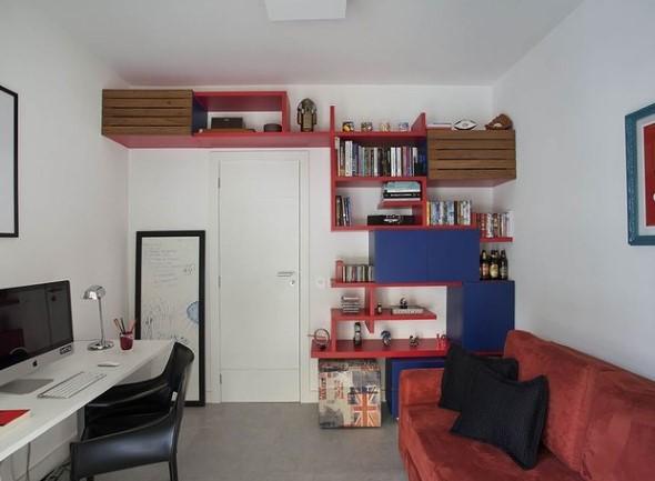 Apartamento pequeno com ambientes integrados 008