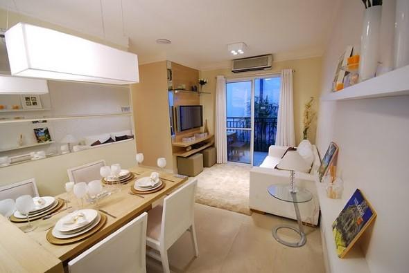 Apartamento pequeno com ambientes integrados 010