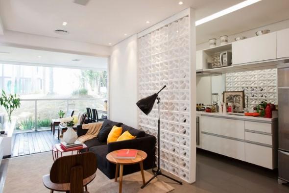 Apartamento pequeno com ambientes integrados 013