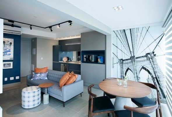 Apartamento pequeno com ambientes integrados 014