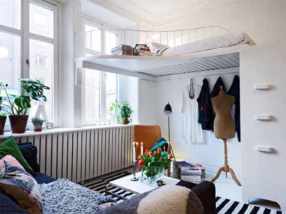 Apartamento pequeno com ambientes integrados 020