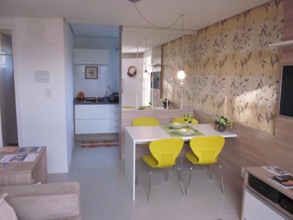 Apartamento pequeno com ambientes integrados 022
