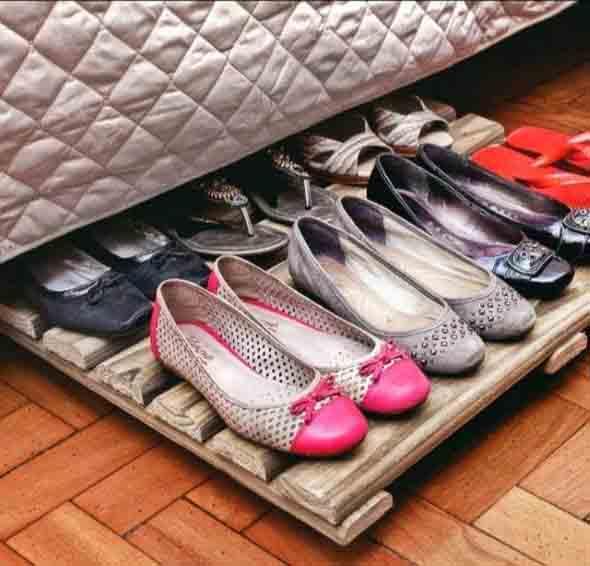 Ideias criativas para organizar e guardar sapatos 003