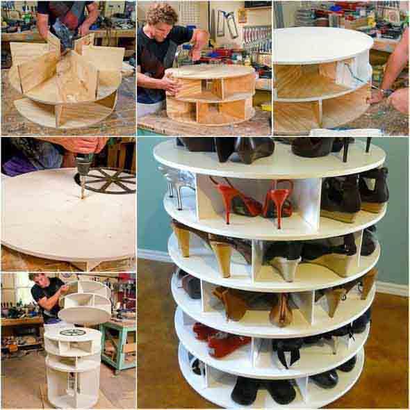 Ideias criativas para organizar e guardar sapatos 008
