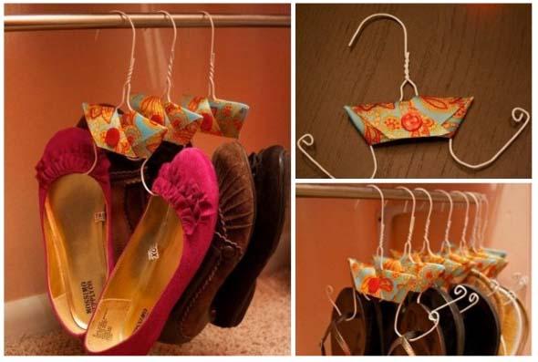 Ideias criativas para organizar e guardar sapatos 010