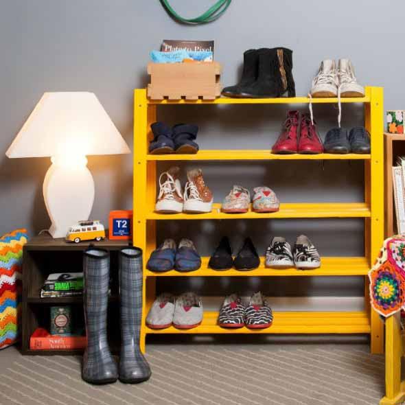 Ideias criativas para organizar e guardar sapatos 011