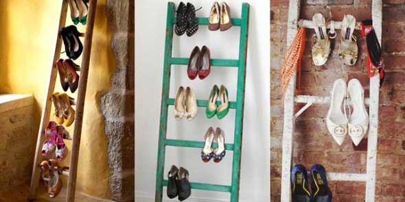 Ideias criativas para organizar e guardar sapatos 012