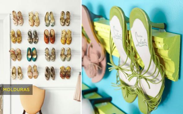 Ideias criativas para organizar e guardar sapatos 016
