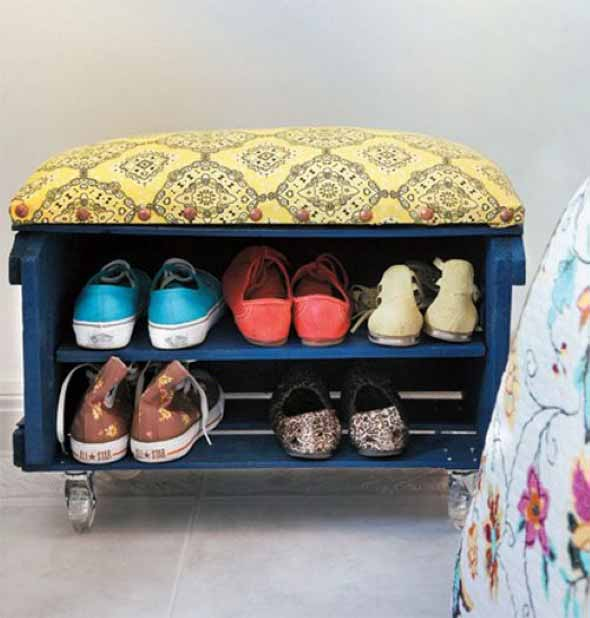 Ideias criativas para organizar e guardar sapatos 017