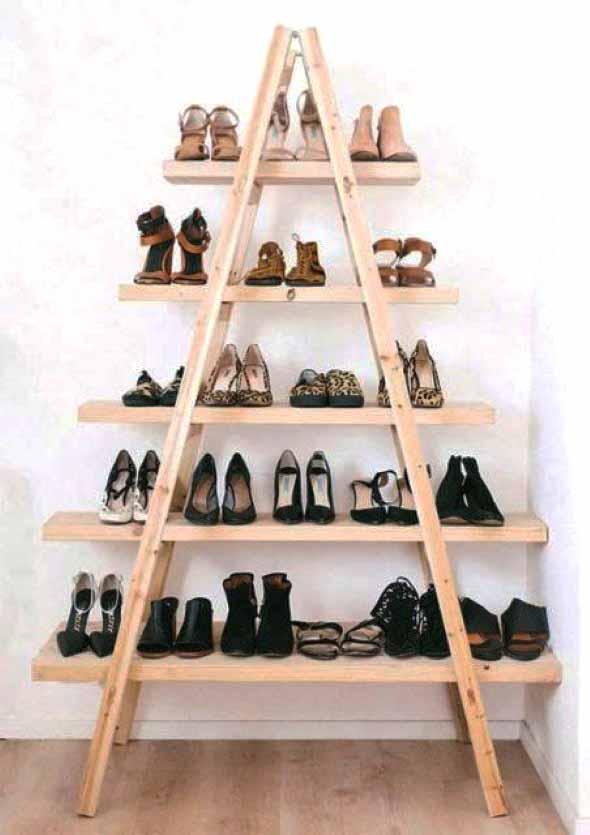 Ideias criativas para organizar e guardar sapatos 018