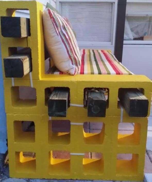 Aprenda a criar bancos com blocos de concreto 001