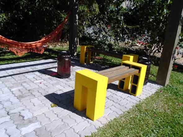 Aprenda a criar bancos com blocos de concreto 011