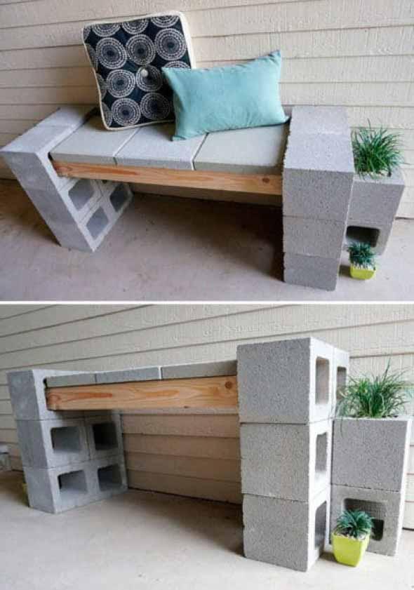 Aprenda a criar bancos com blocos de concreto 013