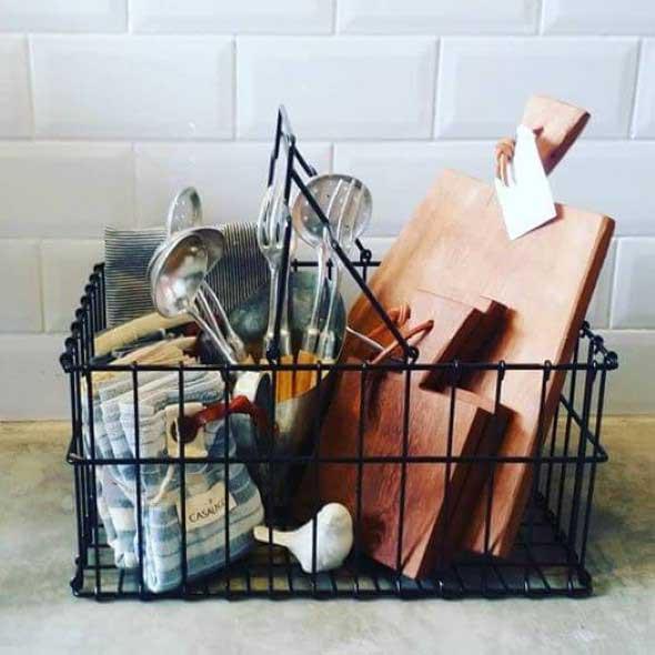 Cestos para facilitar a organização em casa 014