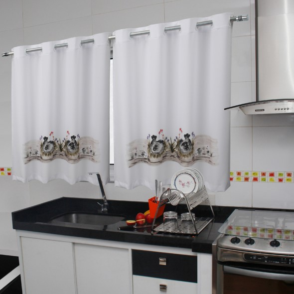 Cortinas na cozinha 001