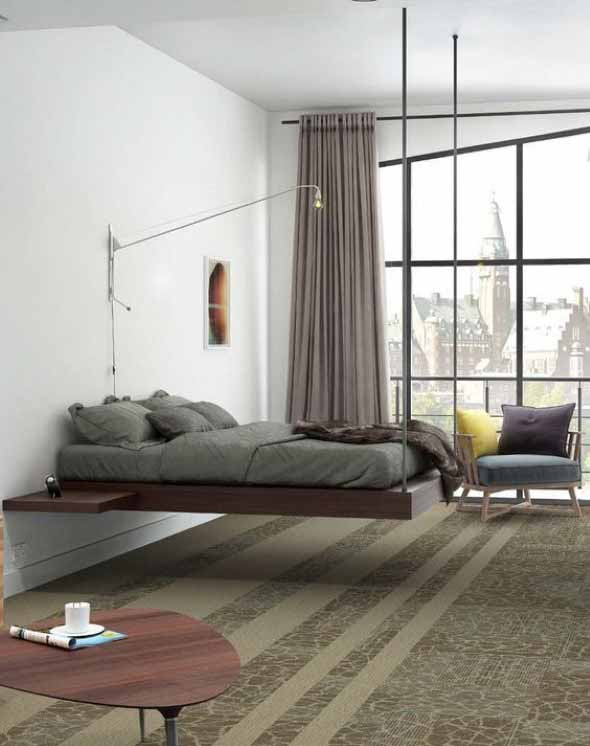 Decorar a casa com móveis suspensos 014