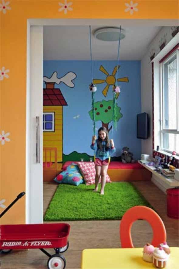 Espaço divertido para crianças em casa 012