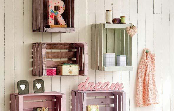 Caixotes de madeira na decoração 003