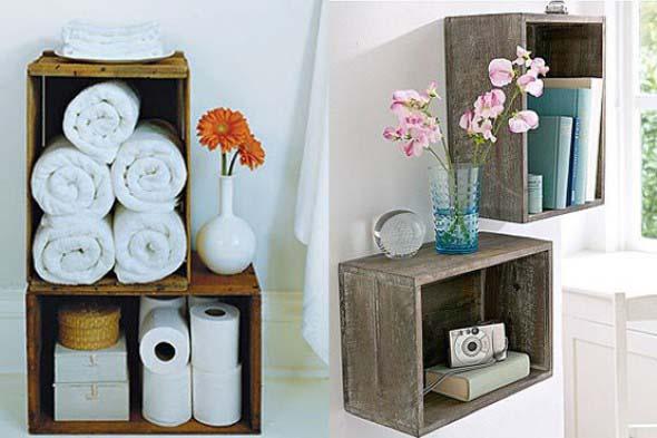 Caixotes de madeira na decoração 004