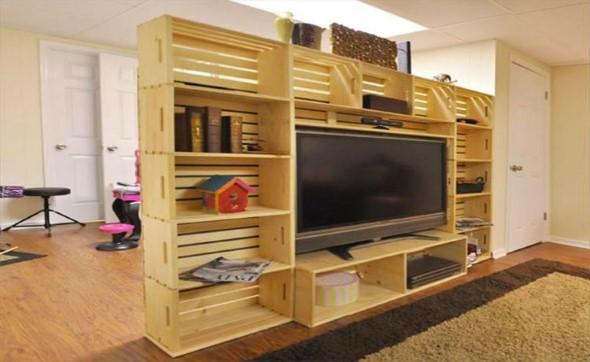 Caixotes de madeira na decoração 011
